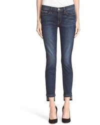 Frame Released Hem Crop Skinny Jeans