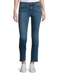 Helmut Lang Mid Rise Skinny Jeans Light Blue