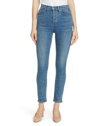 RE/DONE High Waist Ankle Skinny Jeans