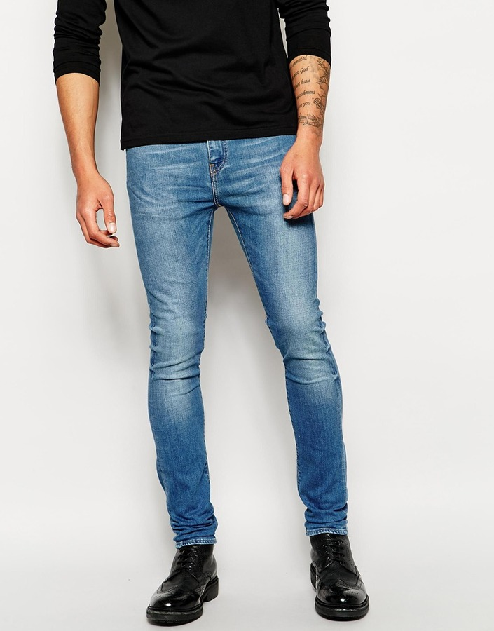 a0ad52ec5a Edwin Jeans Ed 88 Skinny Fit Compact Blue Mid Used Stretch, $180 ...