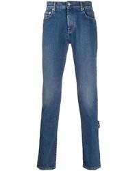 Off-White Logo Print Slim Fit Jeans