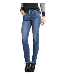 AG Jeans Medium Blue Stretch Denim Farrah Skinny Jeans