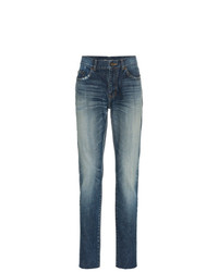 Saint Laurent Midblue Skinny Distressed Jeans
