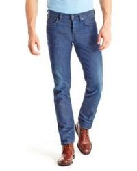 Hugo Boss Orange 63 Slim Fit 105 Oz Cotton Jeans 3432 Blue