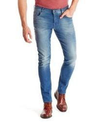 Hugo Boss Orange 71 Slim Fit 105 Oz Cotton Jeans 3634 Blue