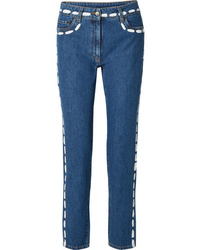 Moschino Painted Mid Rise Skinny Jeans
