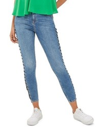 Topshop Petite Jamie Side Lace Up Ankle Skinny Jeans