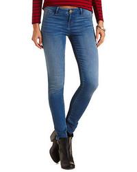 Charlotte Russe Refuge Skin Tight Legging Medium Wash Jeans