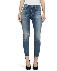 Citizens of Humanity Rocket High Waist Step Hem Skinny Jeans