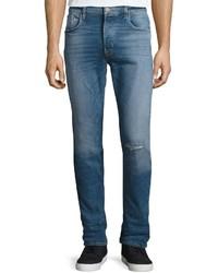 Hudson Sartor Slouchy Skinny Denim Jeans Blue