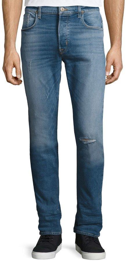 limited quantity good shop for $113, Hudson Sartor Slouchy Skinny Denim Jeans Blue