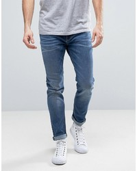 Esprit Skinny Fit Jeans In Mid Blue Wash