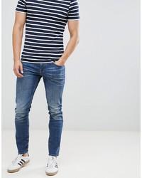 Tom Tailor Skinny Jeans In Dark Blue Wash