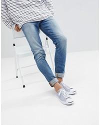 ASOS DESIGN Skinny Jeans In Vintage Mid Wash Blue