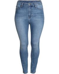 H&M Slim High Ankle Jeans Denim Blue Ladies