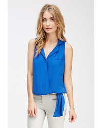 Forever 21 Contemporary Knotted Surplice Top