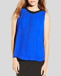 Vince Camuto Pleated Color Block Top