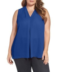 Plus size sleeveless inverted pleat top medium 5308871