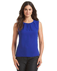 Nine West Solid Pleat Neck Cami