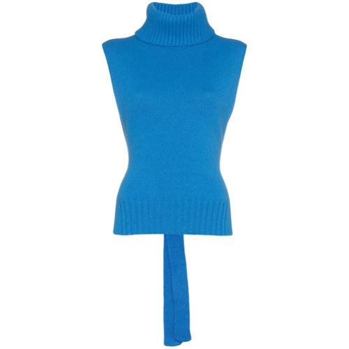 cba8ec6348f $266, Etro Roll Neck Sleeveless Sweater