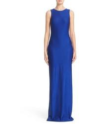 St. John Collection Shimmer Rumba Sleeveless Column Gown