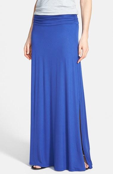 a323e881c9 Bobeau Ruched Waist Side Slit Maxi Skirt, $44 | Nordstrom ...