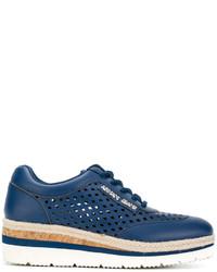 Armani Jeans Cut Out Detail Platform Sneakers