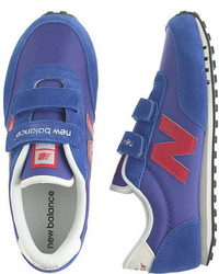 J.Crew Kids New Balance For Crewcuts Ke410 Velcro Sneakers In Bright Blue