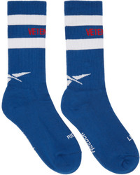 Vetements Blue Reebok Edition Tennis Socks