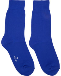 Y's Blue Solid Socks
