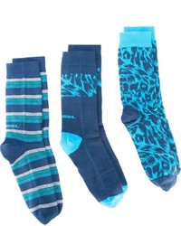 Diesel Skm Ray Three Pack Socks