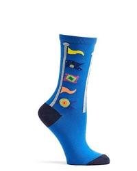 Ozone Design Inc Ozone Pennants Sock Blue