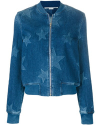 Stella McCartney Stars Denim Bomber Jacket
