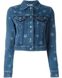 Blue Star Print Denim Jacket