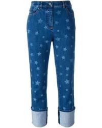 Blue Star Print Jeans