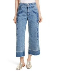 Rebecca Minkoff Starlight High Waist Crop Wide Leg Jeans