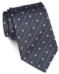 John Varvatos Star Usa Star Print Silk Tie