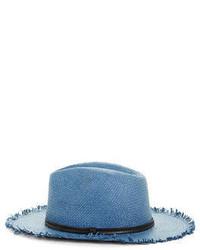 BCBGMAXAZRIA Frayed Straw Panama Hat