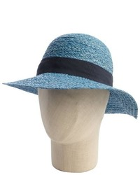 Hat Attack Blue Raffia And Navy Band Sun Hat