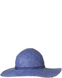 Topshop Navy Paper Straw Floppy Hat With Thin Band Detail 100% Paper
