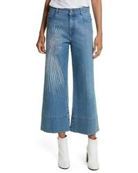 Stella McCartney Studded Denim Culottes