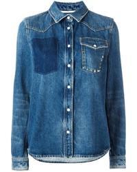 Valentino Studded Pocket Denim Jacket