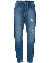 Blue Studded Jeans