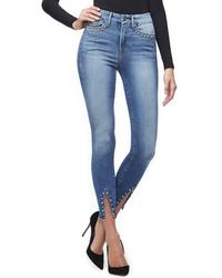 Good American Good Legs Stud Hem Skinny Jeans