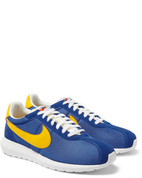Blue Suede Athletic Shoes