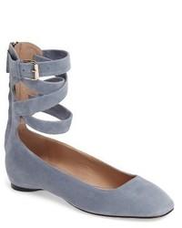 Valentino Ankle Wrap Ballet Flat