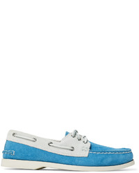 Downeast two tone suede boat shoes medium 4424302