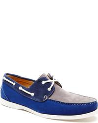 Tri color suede boat shoe medium 316598