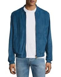 bf004bf7 Blue Suede Bomber Jackets for Men | Men's Fashion | Lookastic.com