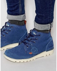Blue Suede Casual Boots